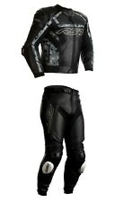 RST TRACTECH EVO-R Motorcycle Sports CE Leather Jacket/Trousers 2PC Black/Camo
