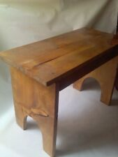 Hand Crafted Wood Decorative Stained Bench