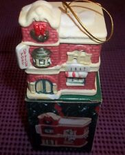 1997 Badcock Collectible Village Bell Ornament Post Office