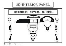 3D Carbon Fiber Interior Dashboard Trim Dash Panels Kit for RHD Toyota 86 - 2012