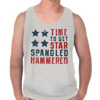 Star Spangled Hammered USA Shirt   July 4th Funny Drink Gift Tank Top