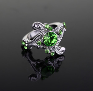 NEW Harry Potter Slytherin House Ring - Green Crystal - Horcrux, Voldemort