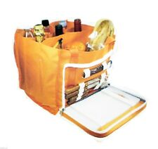 BoyzToys Open Picnic Set Orange Hamper Carry Bag with Various Accessories NEW