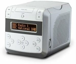 Roberts Sound48 DAB/DAB+/FM/CD Bluetooth Clock Radio White *Read Description*