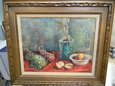 "Vintage Original PAINTING ""Sill Life"" Signed Ruth Erlich 28x20"""