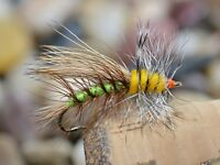 1 Doz Stimulator Terrestrial Dry Fishing Flies - Hook size #10