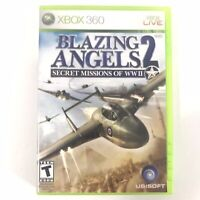 Blazing Angels 2: Secret Missions of WWII (Microsoft Xbox 360, 2007) CIB Working