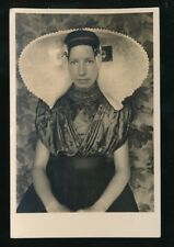 Netherlands Lady in traditional dress Lace RP PPC used 1918