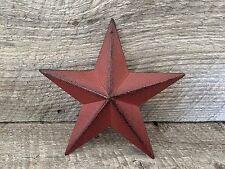 Primitive Metal Barn Star Burgundy 5.5 inch Country Rustic Farm Decor