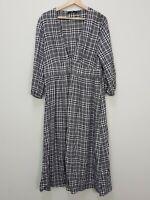 SPORTSGIRL | Womens Checkered Print Maxi Dress [ Size AU 14 or US 10 ]