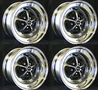 """NEW! Ford Mustang Magnum 500 Wheels 15"""" x 8"""" Set of Complete W/ Caps Nuts"""