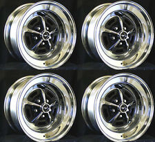 "Ford Mustang Magnum 500 Wheels 15"" x 7"" Set of Complete W/ Caps and Lug Nuts"
