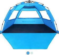 WhiteFang Beach Tent Sun Shelter Pop Up Easy Set up Beach Shade for 3-4 Person