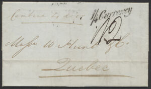 1846 Trans-Atlantic SFL, Liverpool to Quebec, Cambria, 1/4 Currency  A.04