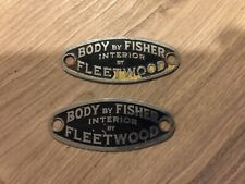 VINTAGE CADILLAC DOOR EMBLEM PART. BY FISHER AND FLEETWOOD