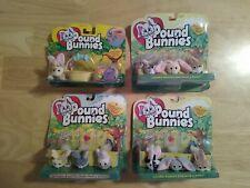 Galoob Pound Puppies Bunnies Mini Plush Stuffed Bunny Rabbits 4 New Packs