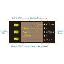 Solar Battery Monitor DC 120V200A Voltmeter Ammeter Current Test Meter Detector