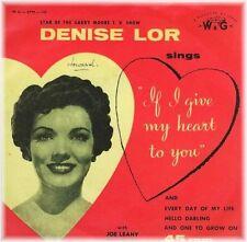 Pop EP Music 1950s Vinyl Records