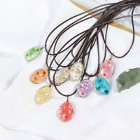 Handmade Epoxy Natural Dried Eternal Flower Specimens Necklaces & Pendants Gift