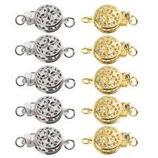 5Pcs Golden Jewelry Clasps Connectors Filigree Flower Hook for DIY Bracelet