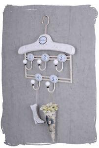 Shabby wall coat hook rack clothes hooks towel holder five hooks enamel Signs
