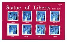 Statue of Liberty - 3451- 3453 3453b 3466 3476-77, 3485 MNH PREMIUM SET PG-13