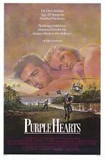 "PURPLE HEARTS 27""x41"" Original Movie Poster One Sheet 1984 Rolled Rare Ken Wahl"