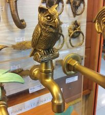 Spigots Brass Toilet Faucet Handle Vintage Owl Tap Water Sink Basin Wash Decor