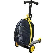 Batman Scootin' Suitcase 3 in 1 Kids Boys - Scooter Trolley & Carry Case