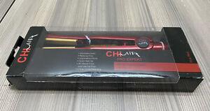 """Chi Air Expert Hair Straightener Tourmaline Ceramic Flat Iron 1"""" Fire Red"""