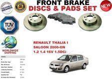 Para Renault Thalia i Saloon 2000- Delantero Solid Juego de Discos Freno +