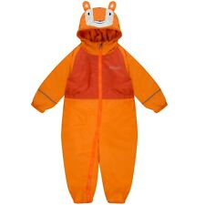 REGATTA MUDPLAY WATERPROOF PADDED FLEECE LINED ALL IN ONE RAINSUIT SNOWSUIT KIDS