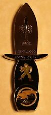 Knife Shaped Chief Petty Officers Mess Navy Challenge Coin