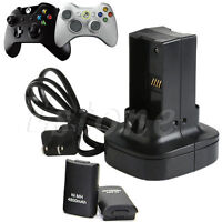 New Dual Battery Charger Station Charging Dock For Microsoft Xbox 360 Controller