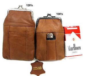 1 Pair 2 Size 100's + 120's Soft Leather Cigarette Case Pouch Chose Your 2 Color