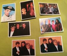 7 X Smash Hits 1987 Panini Stickers Duran Cocteau Twins Cult Sex Pistols