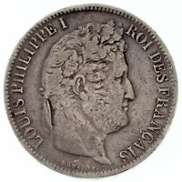 1831-B France 5 Francs Silver Coin (VF) Very Fine KM-736.2