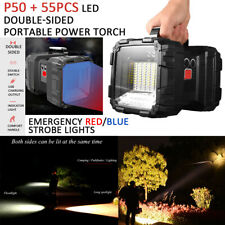 USB Rechargeable Portable Outdoor P50 55PCS LED Two Side Flashlight Torchlight