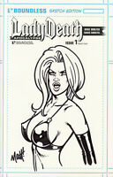 Lady Death Apocalypse #1 Matt Martin Sketch Cover Angry