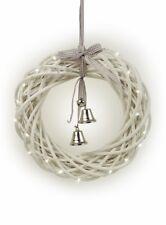 Tobs Led Pre-lit White Wicker Wreath - Medium Pre-lit Wicker Wreath