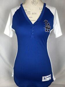 Los Angeles Dodgers MLB Majestic Blue Fan Fashion Jersey w/ Stones Women's SMALL