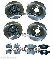 RENAULT MEGANE MK3 FRONT AND REAR BRAKE DISCS PADS INC ABS BEARING 100% QUALITY