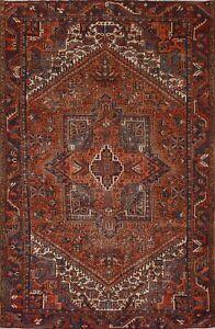 Vintage Heriz Hand-knotted Geometric Area Rug Dining Room Oriental 8'x10' Carpet