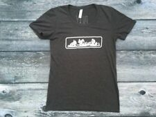 Women's AMERICAN APPAREL Large T-shirt PICKY BARS Club Black Tri-blend