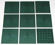 LEGO NEW LOT OF 9 DARK GREEN 6 X 6 TILES FLAT SMOOTH PIECES