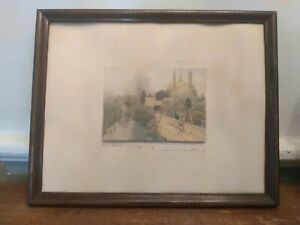 """Antique Framed Wallace Nutting Print """"AN ITALIAN SPRING"""" Signed  15 X 12"""