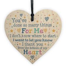 Special Thank You Gift Wood Heart Teacher Mentor Volunteer Friend Gift Keepsake