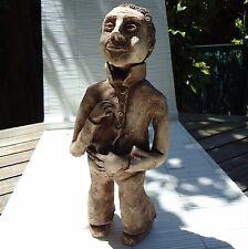 Sculpture Création Unique France Terre Cuite Signé Irène 31x14x10 Cm- .2,130 Kgs