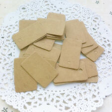 100x Brown kraft blank rectangle gift swing tags paper party wedding favour EB