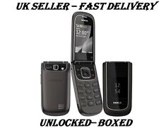 Nokia 3710 Black Flip New Condition Big Button Big Screen Unlocked 3G Phone
